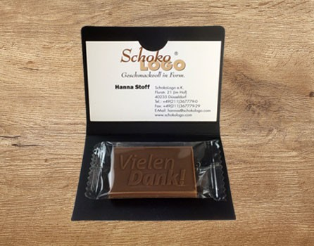 Printed Wallet For Bespoke Chocolate Choco Logo