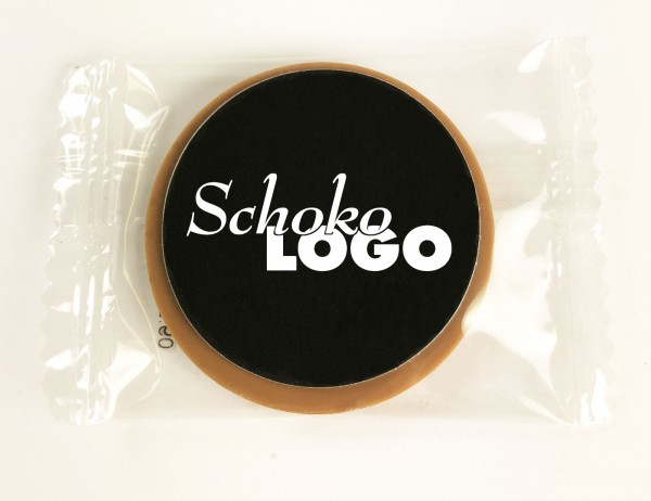 Choco with promotional label