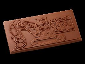 Schokolade-Bagger-Werbeartikel