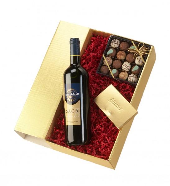 Schokologo Weinpräsent Deluxe