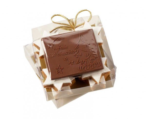 Cinnamon stars bespoke chocolate gift box