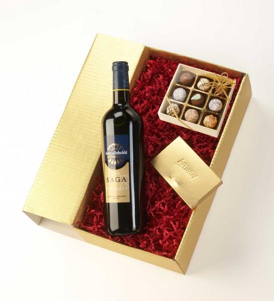 Schokologo Weinpräsent 9