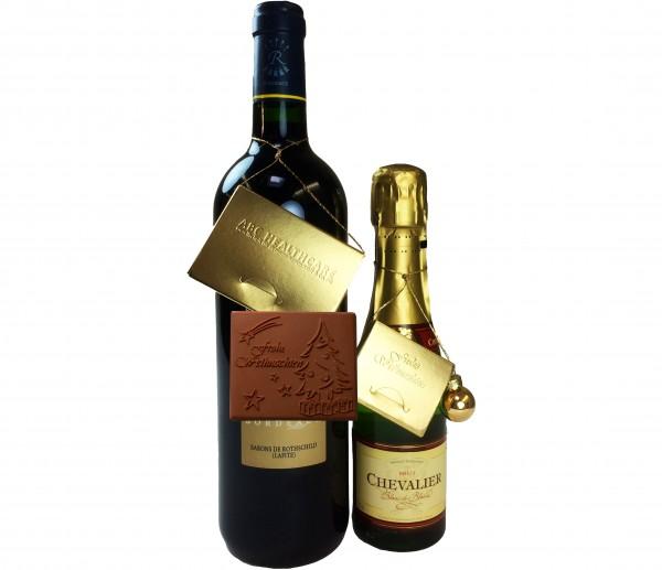 Schokologo Wein-Anhänger