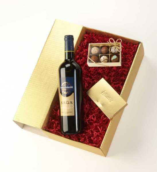 Wine present 6 bespoke chocolate