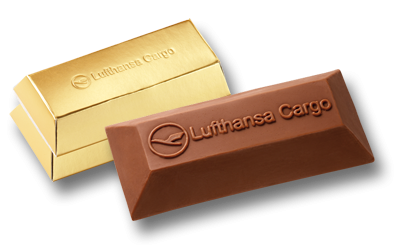Custom chocolate Goldbar 50g